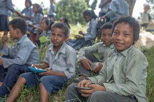 Children in Chitwan started turning up for school when Lincs2Nepal set up their nutrition programme